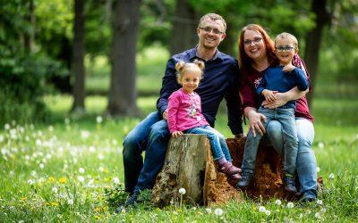 Rodinné focení s Luckou a Pavelem