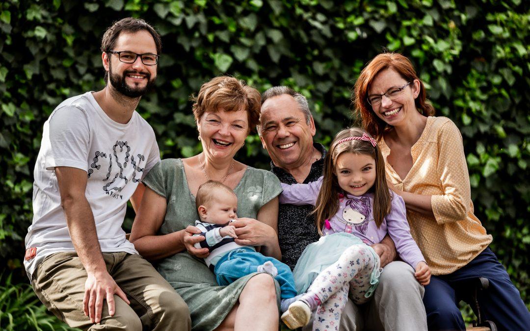 Rodinné focení s Klárkou a Vilémem