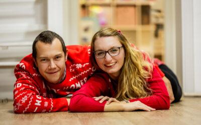 Vánoční focení s Káťou a Markem
